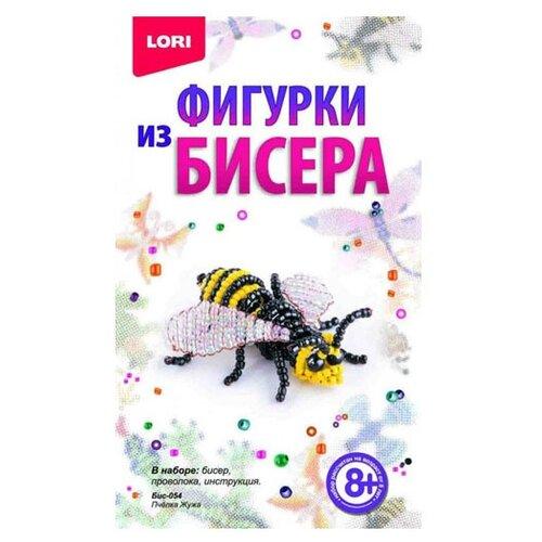 LORI Набор для бисероплетения Пчелка Жужа желтый/черный/белый lori набор для бисероплетения сакура розовый