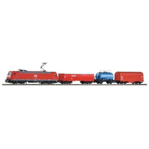 PIKO Стартовый набор Грузовой состав BR 185, серия Hobby, 59004, H0 (1:87) piko стартовый набор грузовой поезд taurus серия hobby 57177 h0 1 87