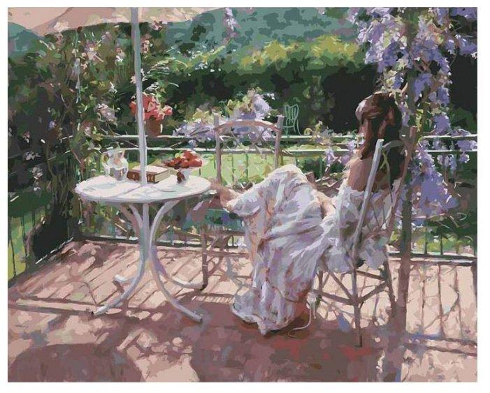 "Белоснежка Картина по номерам ""Утро на террасе"" 40х50 см (935-AB)"