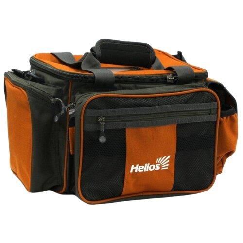 Сумка для рыбалки HELIOS HS 630-030304-1 45х30х24см серый/оранжевый