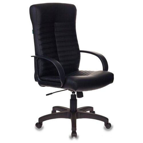Компьютерное кресло Бюрократ KB-10LITE для руководителя, обивка: искусственная кожа, цвет: черный