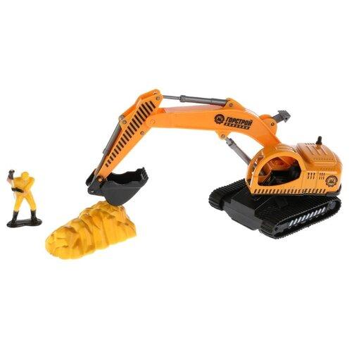 Купить Экскаватор ТЕХНОПАРК 921374-R 16 см оранжевый, Машинки и техника