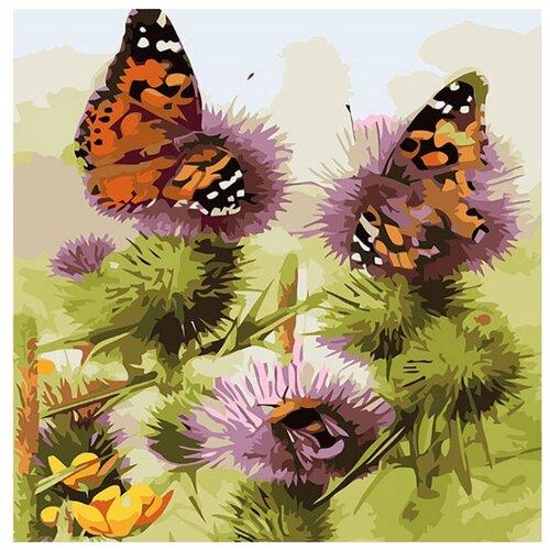 "Color Kit Открытка по номерам ""Бабочки и шмели"" 30х30 см (AC010)"