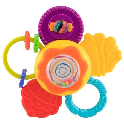 Купить Погремушка Happy Baby Candy Flo желтый/фиолетовый/красный, Погремушки и прорезыватели