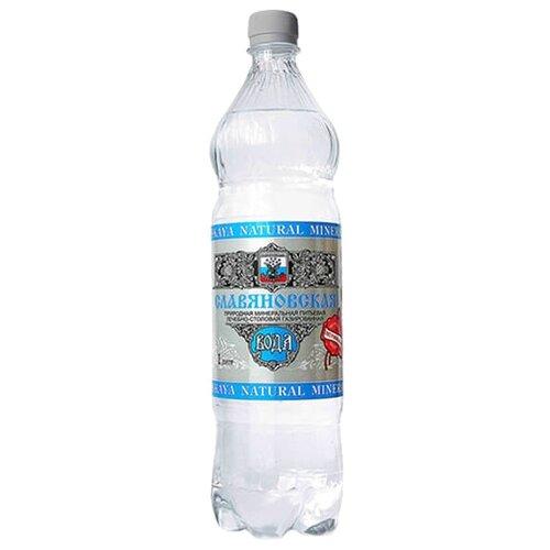 Вода минеральная Тэсти Славяновская газированная, ПЭТ, 1 лВода<br>