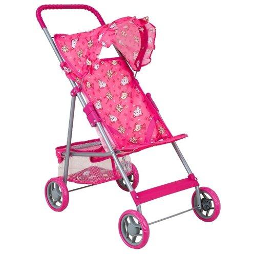 Купить Прогулочная коляска Buggy Boom Mixy (8008) розовый/мишки, Коляски для кукол