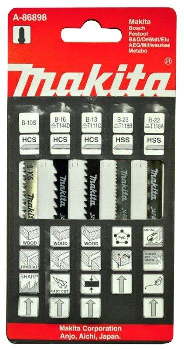 Набор пилок для лобзика Makita A-86898 5 шт.