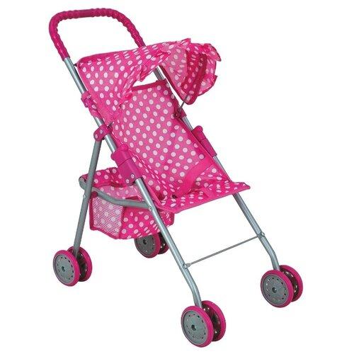 Купить Прогулочная коляска Buggy Boom Mixy (8006) розовый/горошек, Коляски для кукол