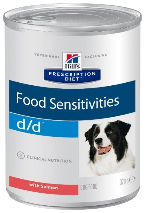 Корм для собак Hill's Prescription Diet при аллергии, лосось 12шт. х 370г