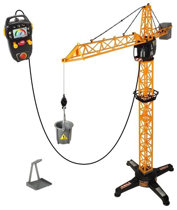Кран, модель машины, дистанционное управление, платформа, клешни, 100 см, 3462411SI1 (Dickie Toys)
