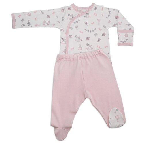 Комплект одежды Linas Baby размер 62 (1-3), белый/розовыйКомплекты<br>