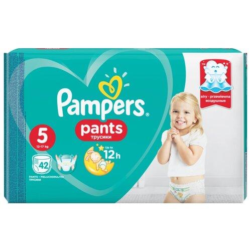 Купить Pampers трусики Pants 5 (12-17 кг) 42 шт., Подгузники