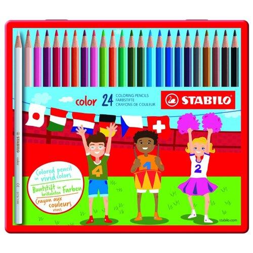 STABILO Цветные карандаши color 24 цвета (1824-77)Цветные карандаши<br>