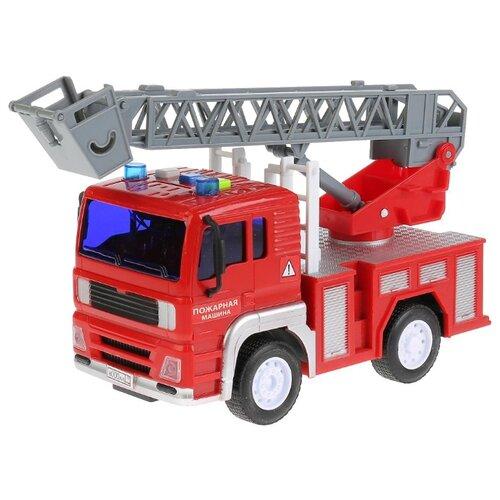 Купить Пожарный автомобиль ТЕХНОПАРК WY550B 1:20 17 см красный/серый, Машинки и техника