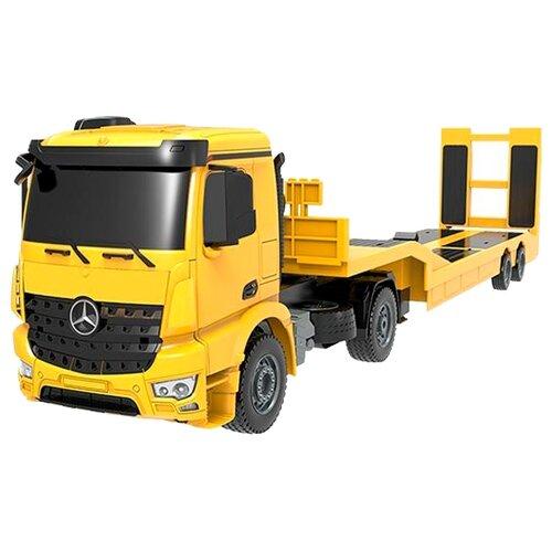 Фото - Автовоз Double Eagle Mercedes-Benz Arocs (E562-003) 1:20 97.5 см желтый/черный автобус double eagle school bus e626 003 1 18 33 см желтый