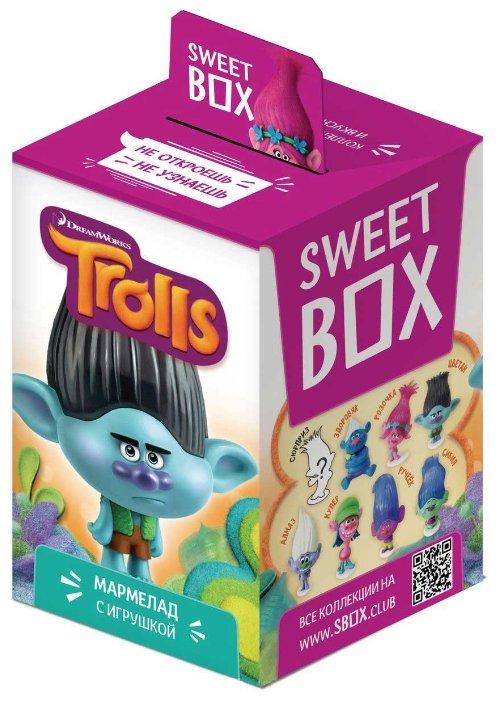 Мармелад SWEET BOX «Тролли» с игрушкой в коробочке, 10 гр.