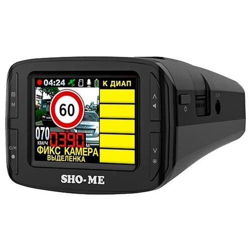 Видеорегистратор с радар-детектором SHO-ME Combo №3 iCatch, GPS, ГЛОНАСС черный