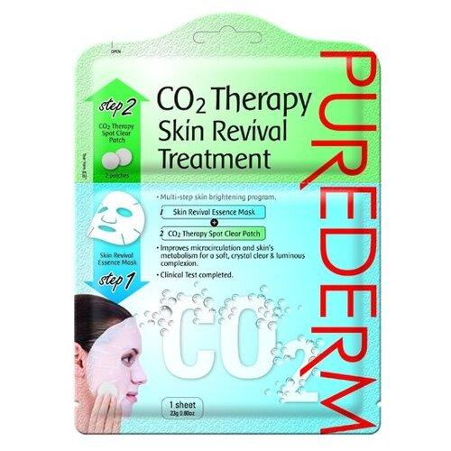 Purederm Восстанавливающая маска для лица+патчи локального действия с CO2, 23 гМаски<br>