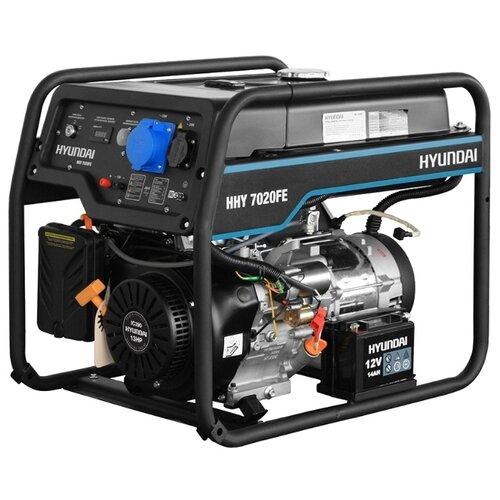 Бензиновый генератор Hyundai HHY 7020FE (5000 Вт) бензиновый генератор dde g550e 5000 вт