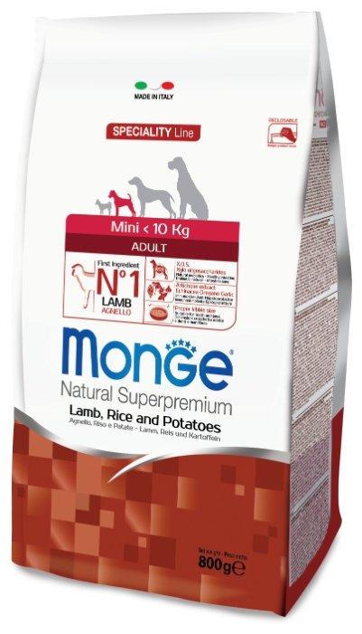 Корм для собак Monge Speciality Mini Adult Ягненок с Рисом и Картофелем