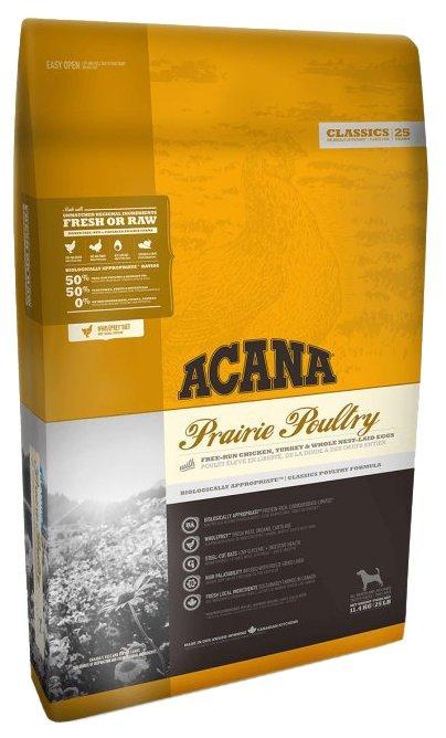 Сухой корм Acana Корм для собак Prairie Poultry, со вкусом цыпленка, 11.4 кг