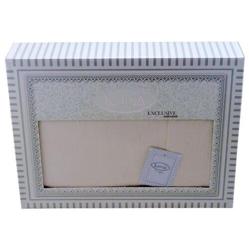 Скатерть KARNA HONEY (3020) 160х300 см кремовый полотенца karna полотенце dora цвет кремовый 50х90 см