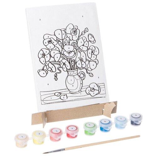 Купить BONDIBON Картина по номерам Цветы 17x12 см (ВВ1078), Картины по номерам и контурам