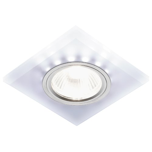 Встраиваемый светильник Ambrella light S215 W/CH/WH, матовый/хром встраиваемый светильник ambrella light d4180 big ch w