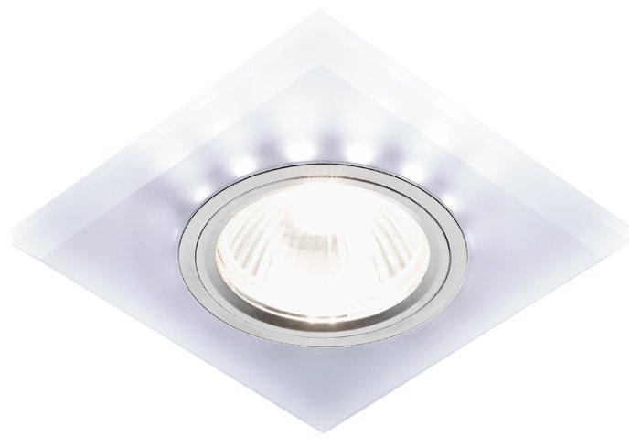 Встраиваемый светильник Ambrella light S215 W/CH/WH, матовый/хром