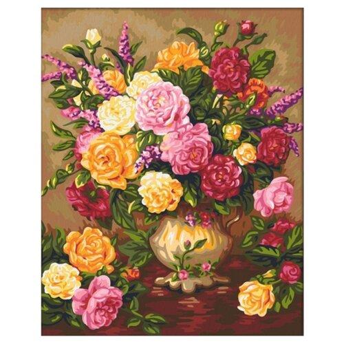 Купить Мосфа Картина по номерам Пышные георгины 40х50 см (7С-0235), Картины по номерам и контурам