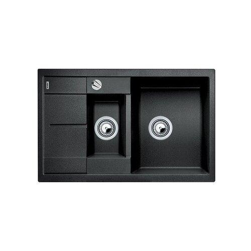 Врезная кухонная мойка 78 см Blanco Metra 6S Compact антрацит кухонная мойка blanco metra 6s compact silgranit антрацит