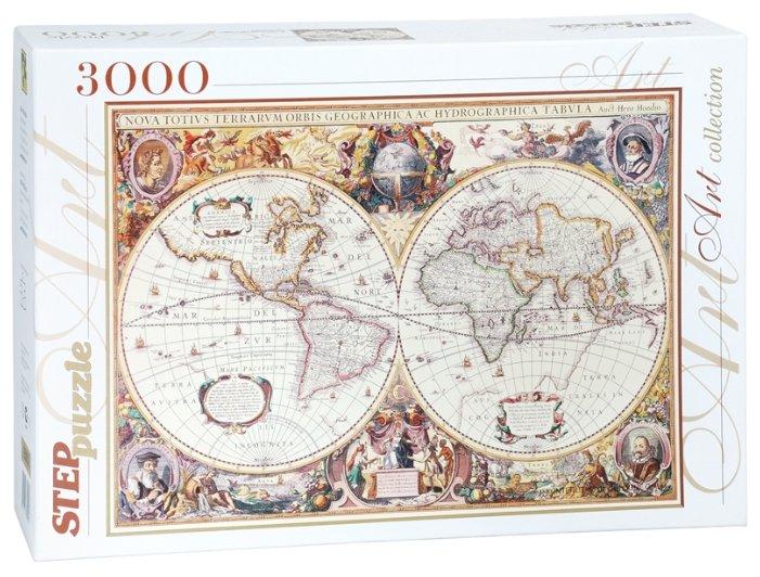 Пазл Step puzzle Историческая карта мира (85002), 3000 дет.