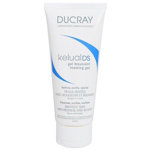 Ducray cмягчающий пенящийся гель для снижения раздражения кожи Kelual DS, 200 мл очищающий пенящийся гель керакнил 200 мл ducray проблемная кожа лица