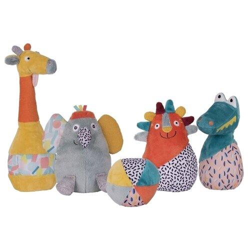 Набор мягких игрушек Ebulobo Мягкий боулинг Зоопарк 15 см