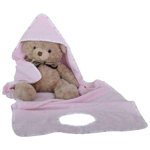 BabyBunny Полотенце фартук банное 70х140 см розовое