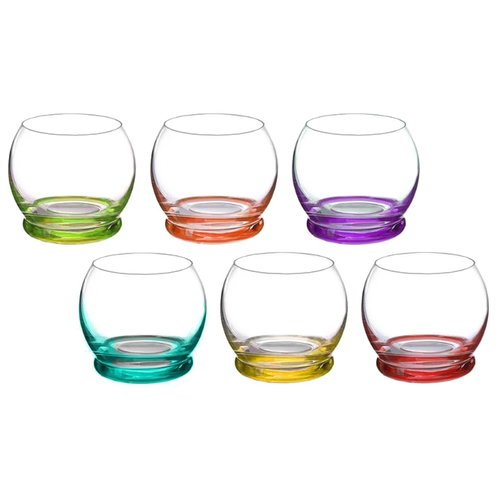 Bohemia Crystal Набор стаканов для виски Crazy 390 мл 6 шт набор стаканов для виски 6 шт bohemia набор стаканов для виски 6 шт