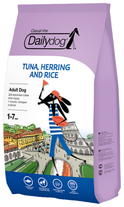 Корм для собак Dailydog Adult Tuna, Herring and Rice