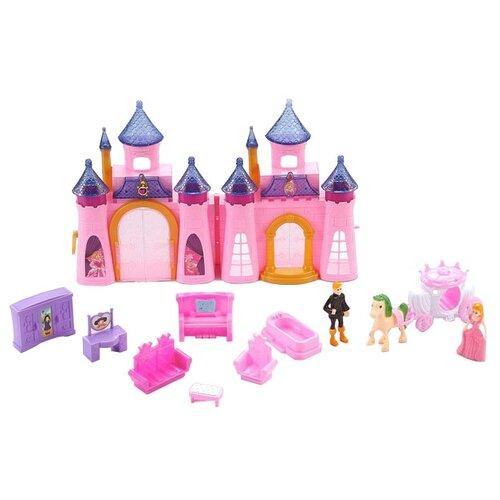 Купить Dolly Toy Королевский дворец DOL0803-006, розовый/фиолетовый, Кукольные домики