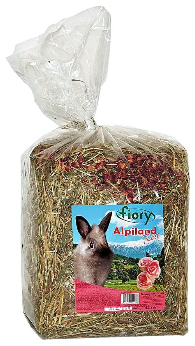 Сено Fiory Альпийское Alpiland Rose с розой 0.5 кг