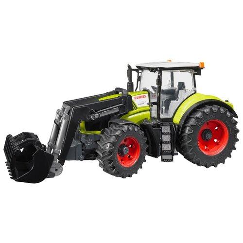 Купить Трактор Bruder Claas Axion 950 (03-013) c погрузчиком 1:16 зеленый/черный, Машинки и техника
