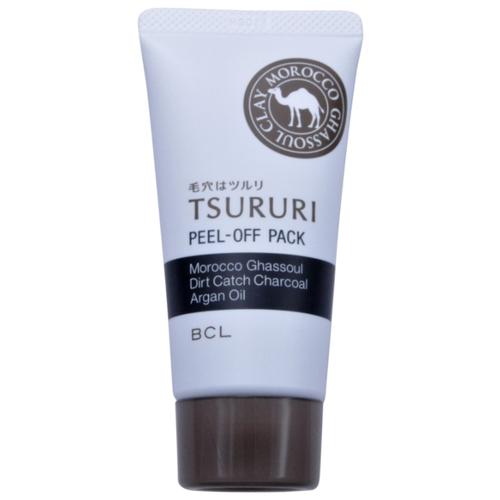TSURURI Маска-пленка Peel-off Pack с марокканской глиной гассул, древесным углем и аргановым маслом, 55 г маска пленка с черной глиной