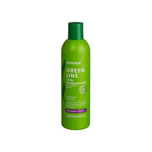Фото - Concept гель-кондиционер Green Line Sebo-balance для жирных волос, 300 мл concept восстанавливающее масло двойное действие 10 10 мл concept green line