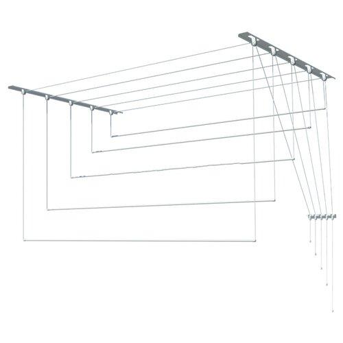 Сушилка для белья Лиана настенно-потолочная металлическая 1,7 м белая