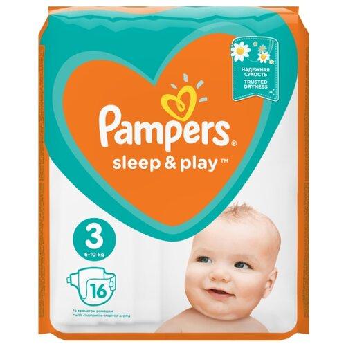 Купить Pampers подгузники Sleep&Play 3 (6-10 кг) 16 шт., Подгузники
