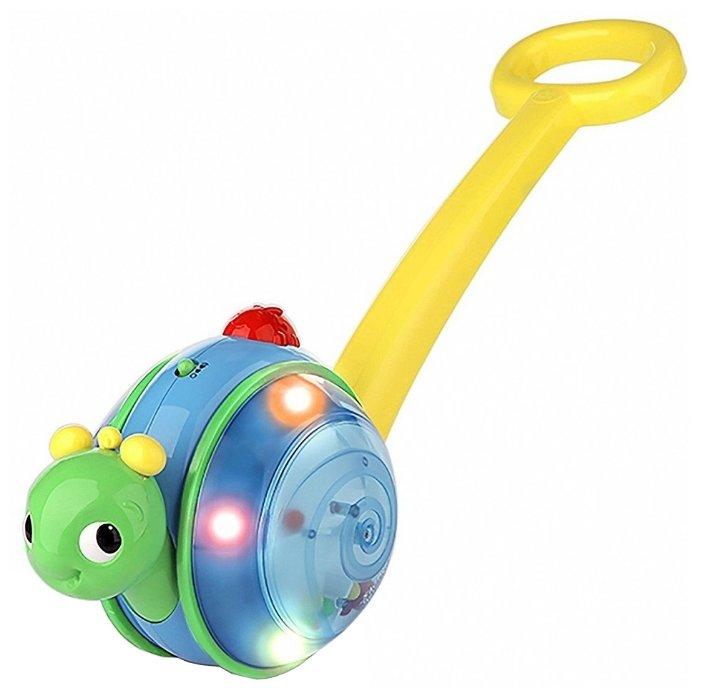 Каталка-игрушка Bright Starts Музыкальная улитка (10935) со звуковыми эффектами