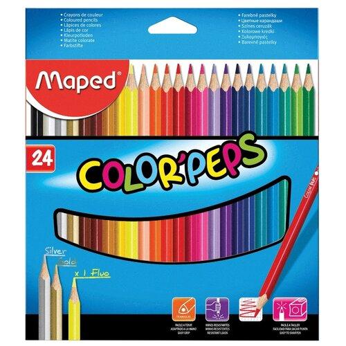 Купить Maped Цветные карандаши Color Pep's 24 цвета (183224)
