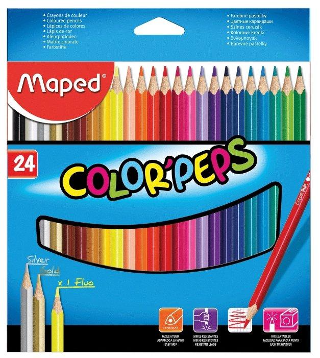 Maped Цветные карандаши Color Pep's 24 цвета (183224)