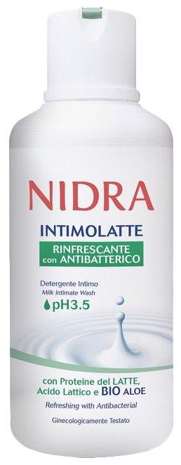 Nidra Гель для интимной гигиены освежающий с молочными протеинами и алоэ, 500 мл