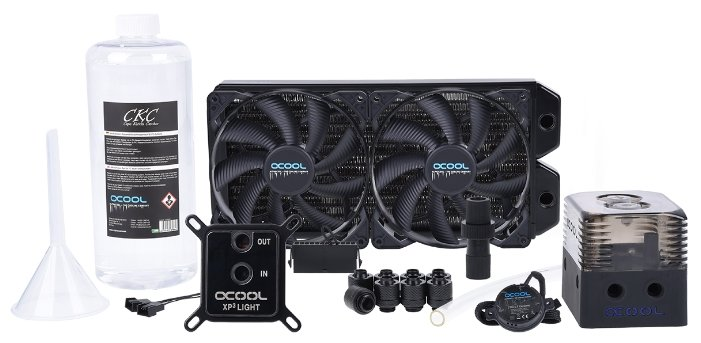 Кулер для процессора Alphacool Eissturm Gaming Copper 30 2x 140 mm