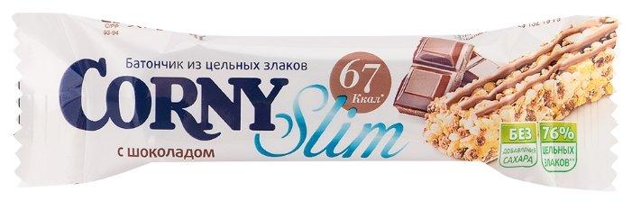 Злаковый батончик Corny Slim без сахара с шоколадом, 20 г